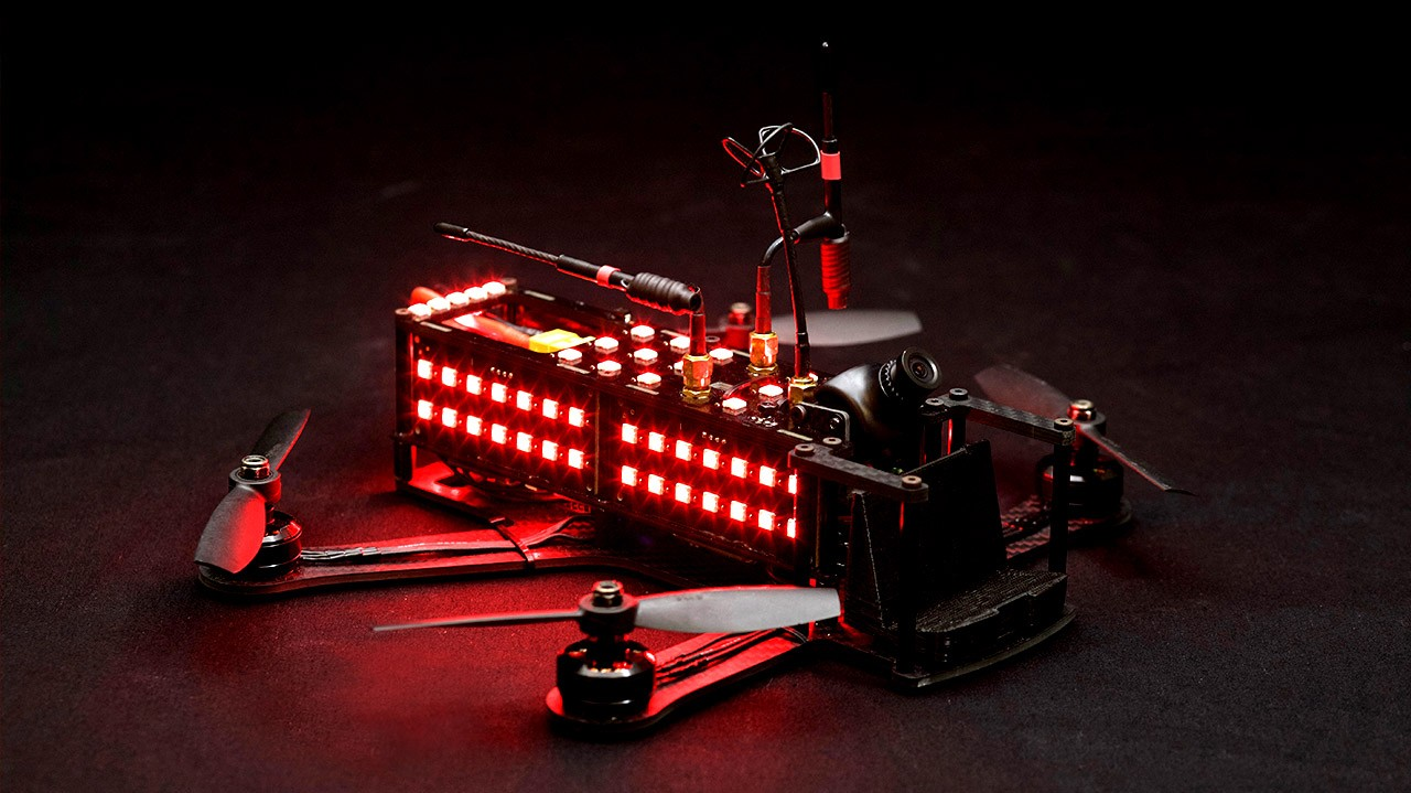 The DRL Racer2:  Made for top speed, agility, pilot identification and advanced radios.